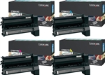 Lexmark X782 High Yield Genuine Toner Cartridge Combo