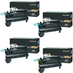 Lexmark C792E Genuine 4-Pack Toner Cartridge Combo