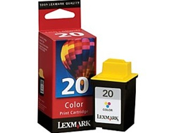 Lexmark 20 Color Inkjet Ink Cartridge 15M0120