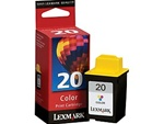 Lexmark #20 Color Inkjet Ink Cartridge 15M0120