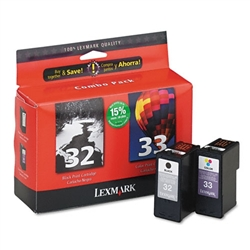 Lexmark #32/ #33 Genuine Ink Combo 18C0532