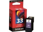 Lexmark #33 Tri-Color Inkjet Ink Cartridge 18C0033