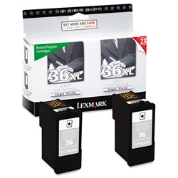 Lexmark #36XL 2-Pack Inkjet Ink Cartridge Combo 18C2230