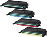 Samsung CLP-K660B, CLP-C660B, CLP-M660B, CLP-Y660B Toner Combo 4-Pack