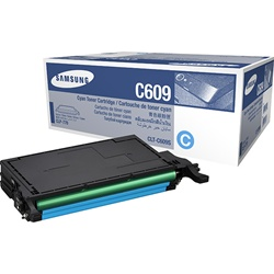 Samsung CLT-C609S Genuine Cyan Toner Cartridge