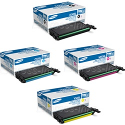 Samsung CLP-670ND Genuine High Yield Toner Combo