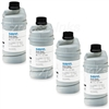 Savin 7356 4-Pack Genuine Black Toner Bottles Type-450