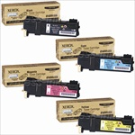 Xerox Phaser 6125 4-Pack Genuine Toner Cartridge Combo