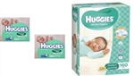 Huggies Nappies Newborn Bulk 160 nappies+ 384x2 wipes
