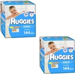 Huggies Infant Boy Nappies (4-8kg) Bulk MULTIBUY - 144x2 nappies