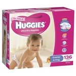 Huggies Crawler Girl Nappies (6-11kg) Bulk - 136 nappies