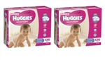 Huggies Crawler Girl Nappies (6-11kg) Bulk MULTIBUY - 136x2 nappies