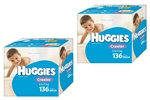 Huggies Crawler Boy Nappies (6-11kg) Bulk MULTIBUY - 136x2 nappies