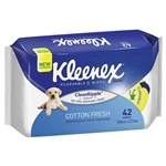 Kleenex New Flushable Wipes Cotton Fresh- 42 wipes