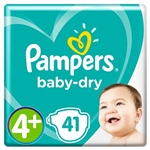 Baby Dry Size 4+ 10-15kg Twin Pack (82 Nappies 2x41)