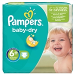 Pampers Nappies Baby Dry 16+kg 60