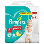Pampers Baby Dry Pull Up Pants - Size 5 - 12-17kg  - 64