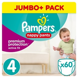 Pampers Active Fit Pants - Size 4 - 8-14kg  - 60