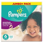 Pampers Active Fit Jumbo Pack 15+kg (56 Nappies)