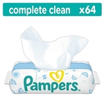 Pampers natural clean wipes 384