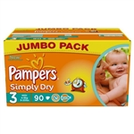 Pampers Simply Dry 4-9kg 90