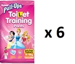 Huggies Pull Ups Toilet Training Pants Early Stage Trainers for GIRLS -14 to 18 kg-   MULTIBUY 13 x6 (1 BOX)