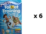 Huggies Pull Ups Toilet Training Pants Trainers for BOYS -16kg+ -   MULTIBUY 12x6 (1 BOX)