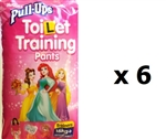 Huggies Pull Ups Toilet Training Pants Trainers for GIRLS -16kg+ -   MULTIBUY 12x6 (1 BOX)
