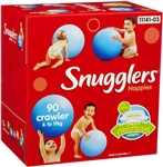 Baby Nappies: Snugglers Crawler 90pk