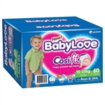 Babylove Cosifit Nappies Junior 15-25kg  Bulk 60 nappies