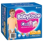 Babylove Cosifit Nappies Walker (12-17kg) -  Bulk 66 nappies