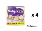 Babylove Wipes Value Pack 3 X 80 (960 Wipes)