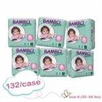 Bambo Nature Nappies XL 16-30kg  MULTIBUY 132(22x6)