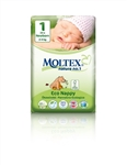 Moltex Nature n.1 eco nappies  1 Newborn 2-4kg 23 nappies