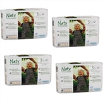 Naty by Nature Babycare Nappies Size 3 (4-9kg) MULTIBUY 31x4