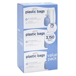 3 Pack Ubbi Plastic Bag Case - 25 Nappy bags Per Pack