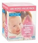 Johnson's baby Skincare Wipes lightly scented 80x6