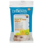 Dr Browns Nose & Face Wipes 0m+ - 30 pack