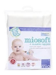Bambino Mio Miosoft Reusable Nappies - 4 pack