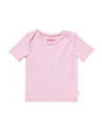 Bonds Baby Newborn Stretchies Tee Pink/White Stripe - Size 00