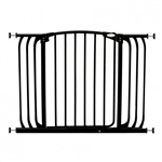 Dreambaby Safety Gate Swing Closed Chelsea Xtra Hallway Black F170B