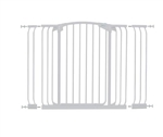 Dreambaby Safety Gate Chelsea Xtra Hallway Tall White F191W+ 1x9cm+1x18cm extensions
