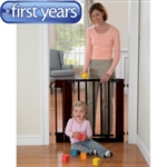 The First Years Home Decor Wooden Safety Gate with 2 extensions