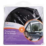 Dreambaby Insta Cling Car Window Shades - Black 2pk