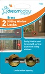 Dreambaby 2 Brass Sliding Window Locks