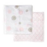 JJ Cole Collections Muslin Cotton Wrap Blanket - Primrose (2 Pack)