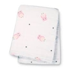 Lulujo Muslin Cotton Wrap - Pink Owls