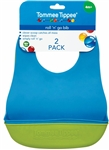Tommee Tippee Roll'n'Go Bibs 2 pack 4m+ - Blue and Green
