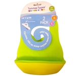 Tommee Tippee Roll'n'Go Bibs 2 pack 4m+ - Green and Yellow