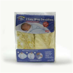 The First Years Swaddler (Yellow Star print) - 2pk
